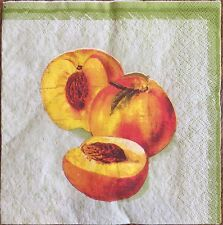 2 single paper napkins decoupage or collection Peach Pomegranate Apple Apricot