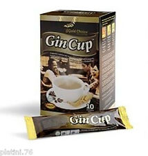 GIN CUP 10 BUST. CAFFE' GINSENG SOLUBILE ORIGINALE GOLD CHOICE INIMITABILE