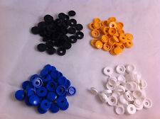 64 Pack PLASTICA NYLON Hinged Screw COVER CAPS FLIP TOP BIANCO NERO BLU GIALLO