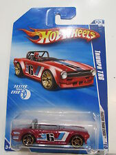 HOT WHEELS 2010 FTE TRIUMPH TR6 RED