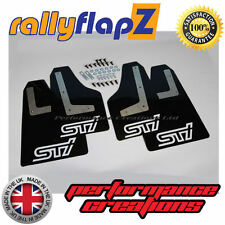 rallyflapZ SUBARU IMPREZA Sedan (2010-2014) Mud Flaps Black STi White 3mm PVC