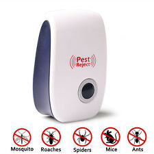 White Ultrasonic Plug In Pest Repeller Mouse Mice Rat Spider Insects Ant