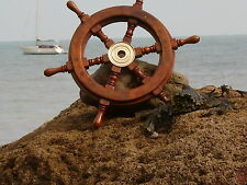 Ships wheel 460 mm across- maritime 18 inches Nice Size Pirate