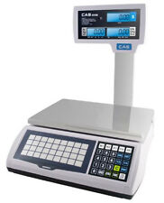 CAS S-2000 Jr/LCD/Pole Price Computing Scale 60X0.02 lb,NTEP,Legal for Trade,New