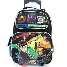 "Ben 10 Alien Force Roller School Backpack 16"" Large Rolling Book Bag -Group"