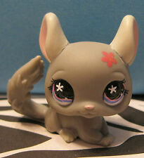 Littlest Pet Shop #495 Gray Chinchilla w/ Flower