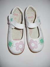 NEW NWOT Pediped 27 10-10.5 Toddler Girls Lorraine White Flower Shoes MT