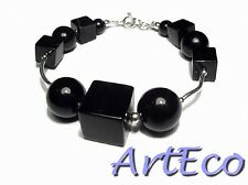 Black Onyx - 925 Sterling Silver Bracelet fashionable ONLY ONE UNIQUE