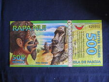 EASTER ISLAND PNEW POLYMER - 01-08-2012 - 500 RONGO UNC - NEW HOLOGRAM