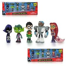 """Teen Titans Go Teen Titans Action Figure (6-Pack), 2""""  Kids Childrens Toys - NEW"""