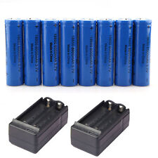 8x 6000mAh Li-ion 3.7V Rechargeable 18650 Batteries + 2X Dual Charger US Stock
