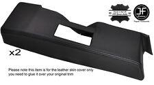 BLACK STITCH 2X DOOR RELEASE SURROUND LEATHER COVER FITS RENAULT ALPINE GTA V6
