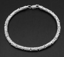 4mm ROUND Byzantine Bracelet Real 925 Sterling Silver ALL SIZES QVC