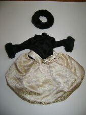 AMERICAN GIRL DOLL GOLD BLACK MIDNIGHT HOLLY CHRISTMAS HOLIDAY DRESS OUTFIT