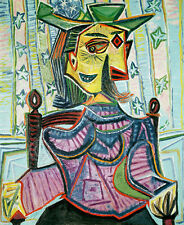 ART PRINT - Seated Portrait of Dora Maar by Pablo Picasso 28x23 Cubism Poster
