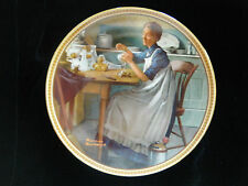 """Working in the Kitchen"" ~ Rockwell Rediscovered Women Series Collector Plate"