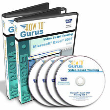 New Microsoft Office Pro Excel 2007 Word 2007 Tutorial Training 24 hrs on 4 DVDs