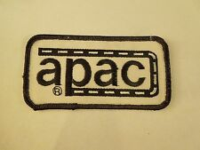 Vintage Apac A Road & Construction Company Logo Iron On Patch