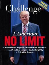 CHALLENGES n° 496 *09/11/2016**TRUMP ou l'AMERIQUE NO LIMIT*FILLON c 3 handicaps