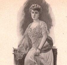 Portrait Henriette de Belgique duchesse de Vendôme et d'Alençon Saxe-Cobourg