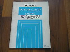 TOYOTA MOTOR 2A 4A 2S-E 2Y 3Y Emission Control Abgasreinigung WERKSTATT HANDBUCH