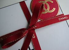 AUTHENTIC RED AND GOLD CHANEL RIBBON 2 METER.