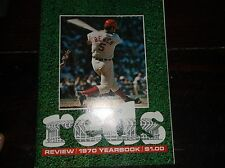 """Vintage Baseball 1970 """"REDS Review """"OFFICIAL Cincinnati Reds Yearbook"""