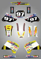 Suzuki RM 125 - 250 / 1993 - 1995 Full  Custom Graphic  Kit AUSSIE PRIDE decals