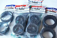 TAMIYA 1/10 RC CAR TIRE(50476)+WHEEL+Inner, RALLY BLOCK, CB.Reinforced wheel