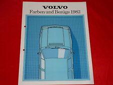 VOLVO 340 240 260 Farben + Polster Prospekt von 1982