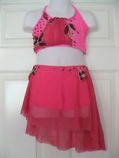 Custom Made Fly Hot Pink Lyrical Dance Competition Costume Child Small 6-7