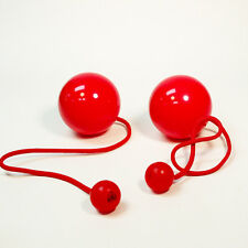 Play Pair of Contact GIGA Poi with 100mm Stage Ball - Red