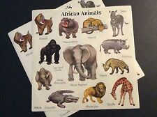 Vintage Stickers - African Animals - Mint!!