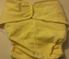Yellow Adult flannel cloth incontenence medical diaper hook loop LARGE