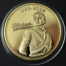 MICHAEL JACKSON COMMEMORATIVE 24K GOLD PLATED COIN