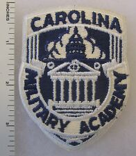 CAROLINA MILITARY ACADEMY MAXTON NC ROTC PATCH Cut Edge Vintage ORIGINAL
