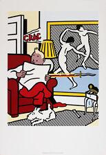 Tintin Reading, 1994 by Roy Lichtenstein Art Print Original Exhibition Poster