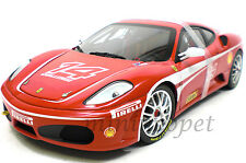 HOT WHEELS ELITE J2923 FERRARI F-430 CHALLENGE #14 1/18 DIECAST RED
