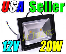 12V Low Voltage 20W 10Wx2 Cool Pure White LED Wall Pack Wash Flood Light Garden