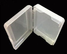 TRANSPARENT PLASTIC 1 DECK HOLDER CASE GREAT GIFT POKER SIZE PLAYING CARDS *