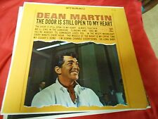 "Great Vintage Music LP Record- DEAN MARTIN ""The Door is Still Open To My Heart"""