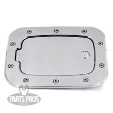 NEW Polished Locking Gas Fuel Door / FOR FORD F250 F350 SUPERDUTY TRUCK 11-14