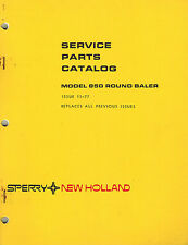 "NEW HOLLAND 850  ROUND  BALER  PARTS MANUAL ""NEW"""