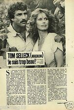 Coupure de presse Clipping 1982 (1 page) Tom Selleck Magnum