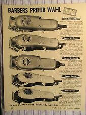 1950's Vintage Barbershop WAHL 5 Clipper Varities Sign Ad Prices
