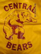 1970s Vinyl Seat Cushion Central High School Bears Evansville IN W/Boosters List