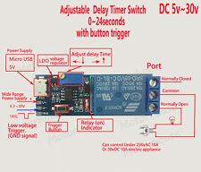 DC 5v 12v 24v Adjustable Trigger Control Delay Time Switch Board Relay Module