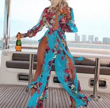 New Women's Summer Casual Long Sleeve Evening Party Cocktail Maxi Long Dress