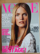 VOGUE GERMANY 10 - 2001 Mini Anden Cate Blanchett Nicole Kidmann Lauren Hutton
