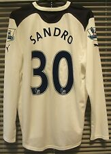 Authentic Tottenham 2010/11 Home L/S Shirt PLAYER ISSUE Match Prepared SANDRO 30